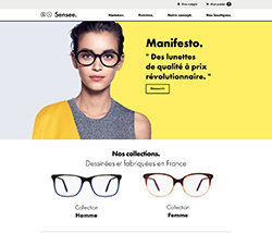 Un nouveau site de vente de lunettes en ligne   sensee.com   Choisir ... 1396e56d0551